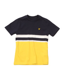 Lyle And Scott Junior Boys Yellow Block Stripe T Shirt