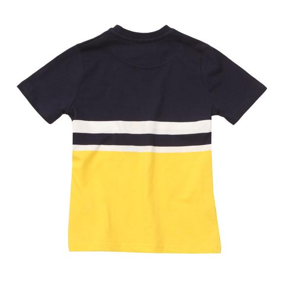 Lyle And Scott Junior Boys Yellow Block Stripe T Shirt main image