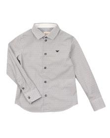 Armani Junior  Boys Blue 3Y4C14 Patterned Shirt