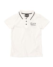 EA7 Emporio Armani Boys White Tipped Polo Shirt