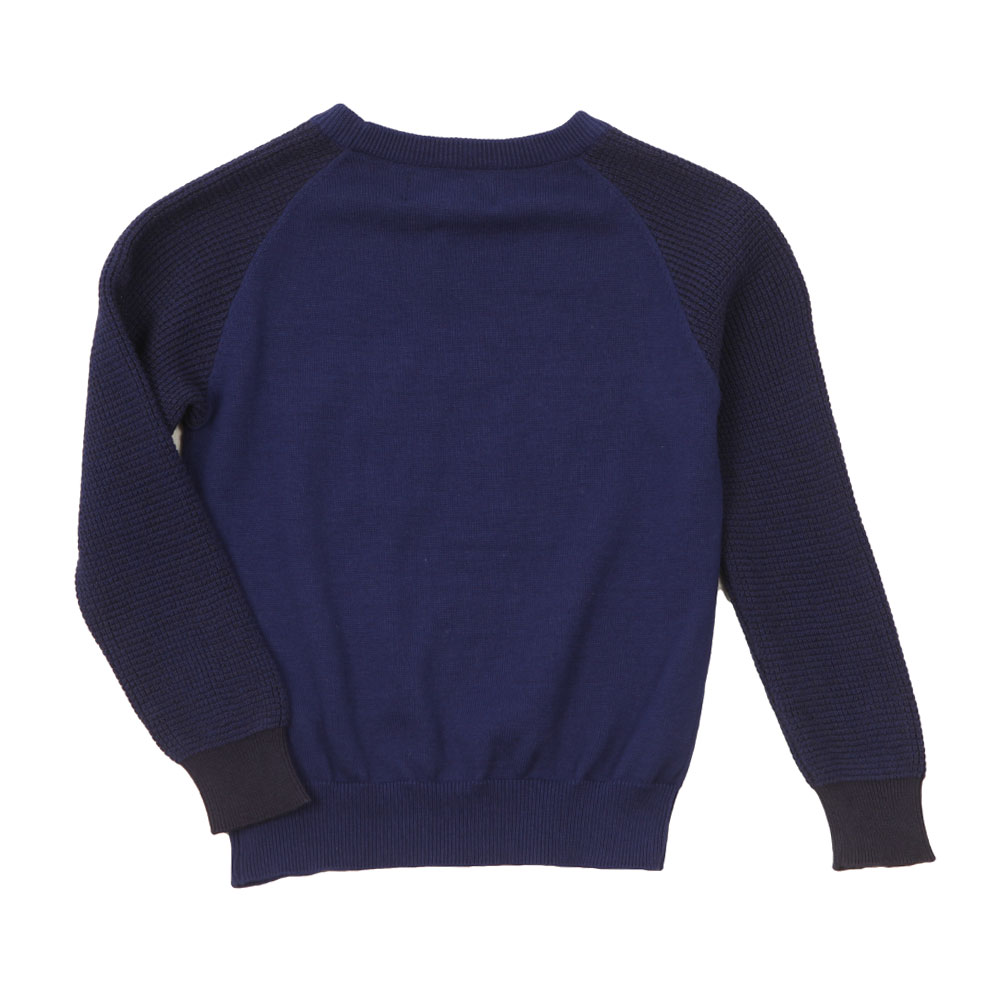 Crew Neck Rib Sleeve Jumper main image