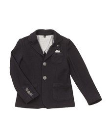 Armani Junior  Boys Blue 2 Button Blazer