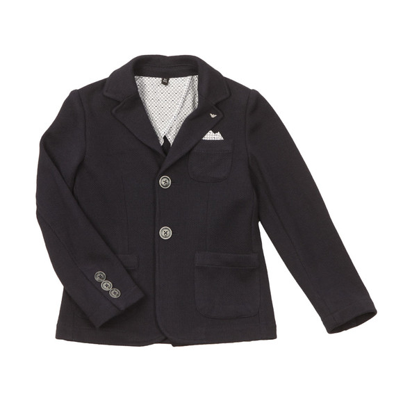 Armani Junior  Boys Blue 2 Button Blazer
