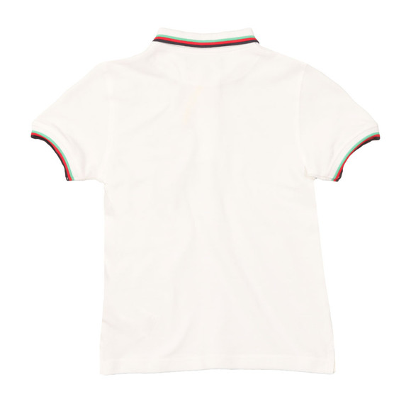 Lyle And Scott Junior Boys White Classic Tipped Polo Shirt main image