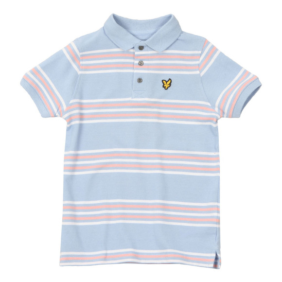 Lyle And Scott Junior Boys Blue Double Stripe Polo Shirt