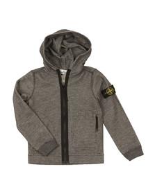 Stone Island Junior  Boys Grey Woven Full Zip Hoody