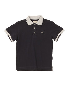 Armani Junior  Boys Blue 3Y4F02 Tipped Polo Shirt