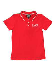 EA7 Emporio Armani Boys Red Tipped Polo Shirt