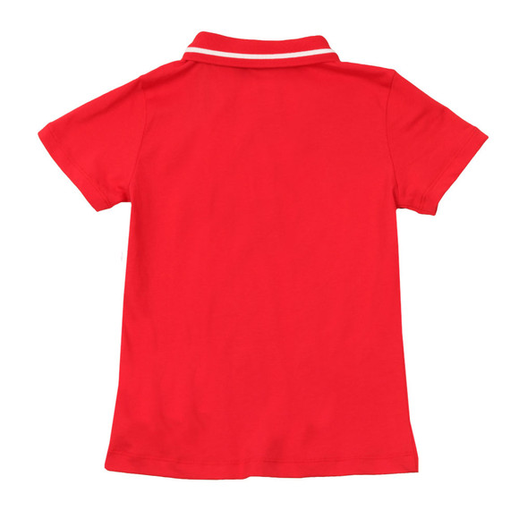 EA7 Emporio Armani Boys Red Tipped Polo Shirt main image