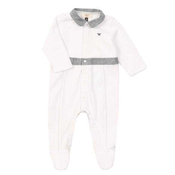Armani Baby Boys White Romper Suit main image