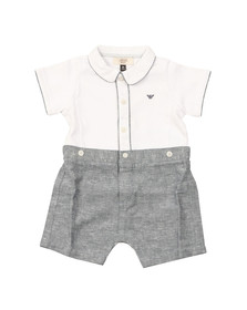 Armani Baby Boys White Short Romper