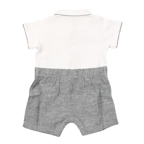 Armani Baby Boys White Short Romper main image