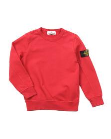 Stone Island Junior  Boys Red Lightweight Crew Sweatshirt