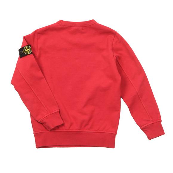 Stone Island Junior  Boys Red Lightweight Crew Sweatshirt main image