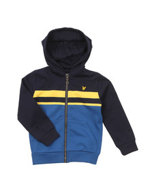 Lyle And Scott Junior Boys Blue Stripe Zip Thru Hoody