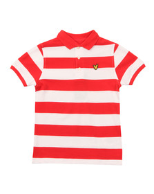 Lyle And Scott Junior Boys Orange Block Stripe Polo Shirt