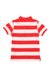 Lyle And Scott Junior Boys Orange Block Stripe Polo Shirt