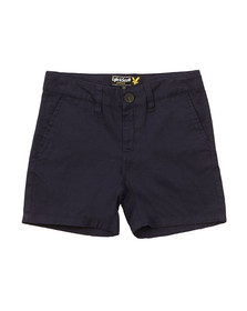 Lyle And Scott Junior Boys Blue Cotton/Linen Short