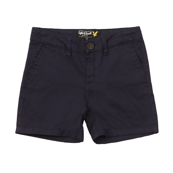 Lyle And Scott Junior Boys Blue Cotton/Linen Short main image