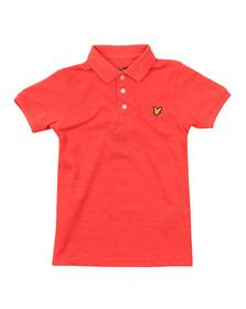 Lyle And Scott Junior Boys Orange Classic Marl Polo Shirt