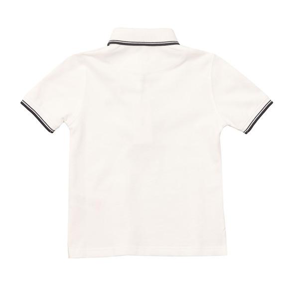 BOSS Boys White Tipped Polo Shirt main image