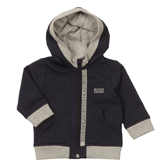 BOSS Baby Boys Blue J05P02 Zip Hoody main image