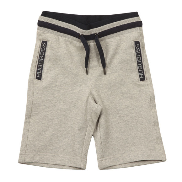 BOSS Boys Grey Boys Logo Jersey Shorts main image