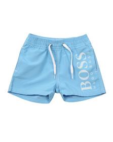 Boss Boys Blue Large Logo Swim Shorts