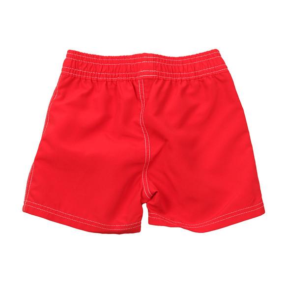 Boss Boys Red Large Logo Swim Shorts main image