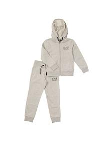 EA7 Emporio Armani Boys Grey Small Logo Tracksuit