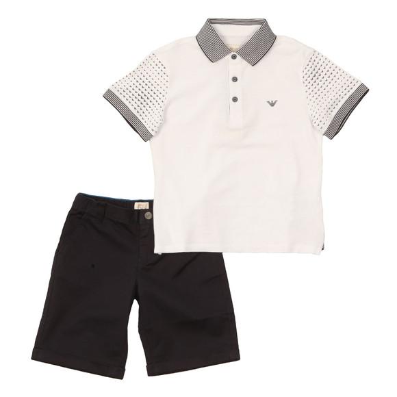 Armani Junior  Boys White Polo & Short Set main image