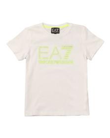 EA7 Emporio Armani Boys White Neon Logo T Shirt