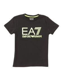 EA7 Emporio Armani Boys Blue Neon Logo T Shirt