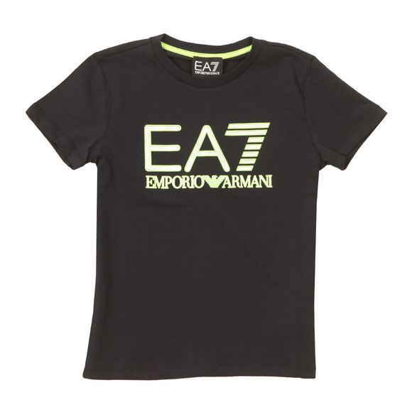 EA7 Emporio Armani Boys Blue Neon Logo T Shirt main image