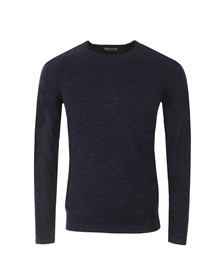 J.Lindeberg Mens Blue Fredric Dyed Knit