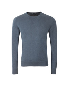 J.Lindeberg Mens Blue Mikael Crew Neck Cotton Crepe Jumper