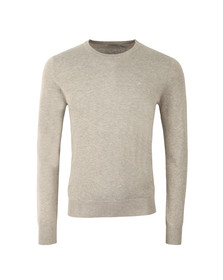 J.Lindeberg Mens Grey Mikael Crew Neck Cotton Crepe Jumper