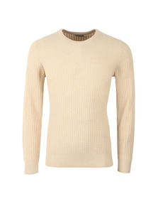 J.Lindeberg Mens Off-white Ryan Urban Braid Jumper