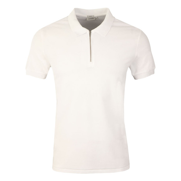 J.Lindeberg Mens Off-White Valiant Fluid Pique Polo  main image