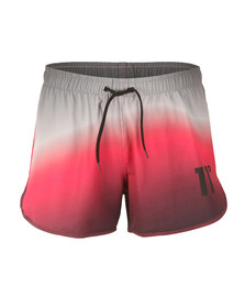 Eleven Degrees Mens Multicoloured Ombre Wave Retro Swim Shorts