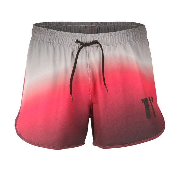 Eleven Degrees Mens Multicoloured Ombre Wave Retro Swim Shorts main image
