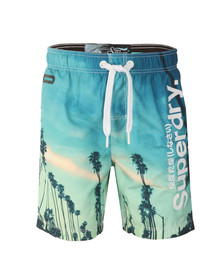 Superdry Mens Blue Premium Neo Photo Swim Short