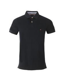 Tommy Hilfiger Mens Blue S/S Jacquard Polo