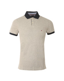 Tommy Hilfiger Mens Grey S/S Jacquard Polo