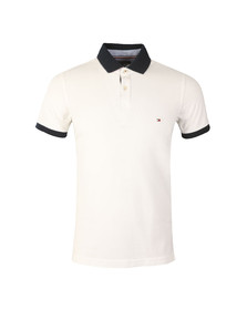 Tommy Hilfiger Mens White S/S Jacquard Polo