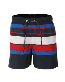 Tommy Hilfiger Mens Blue Global Swim Trunk