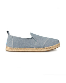 Toms Womens Blue Deconstructed Alpargata