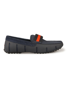 Swims Mens Blue Webbing Driver Loafer