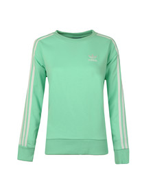 Adidas Originals Womens Green 3S A Line Sweat