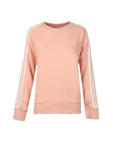 Adidas Originals Womens Pink 3S A Line Sweat